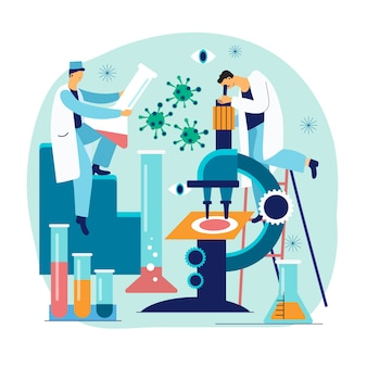 Cientistas trabalhando juntos