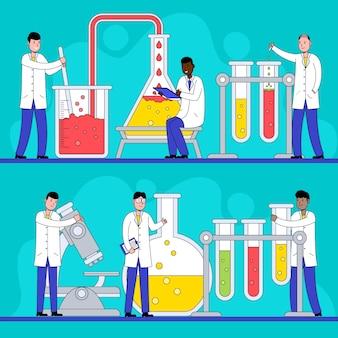 Cientistas trabalhando no laboratório