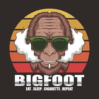 Cigarro bigfoot retrô