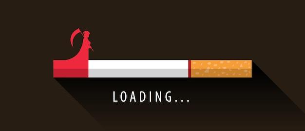 Cigarro carregando até a morte