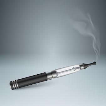 Cigarro prejudicial, víbora, fumaça, infografia de negócios.