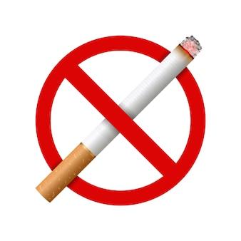 Cigarro realista, estágios de queimadura.