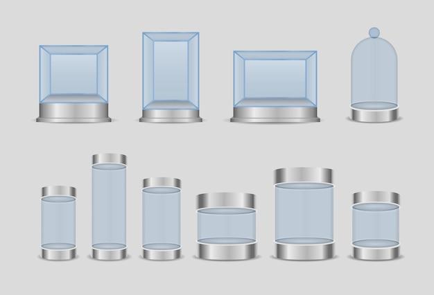 Cilindro de caixa de vidro