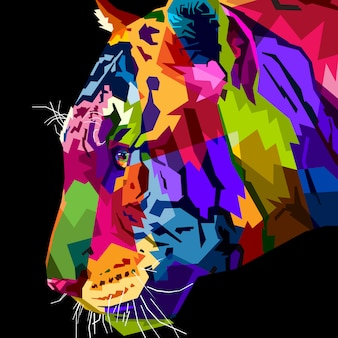 Cima, cabeça, tigre