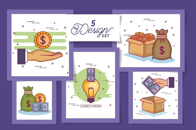 Cinco cartões de crowdfunding