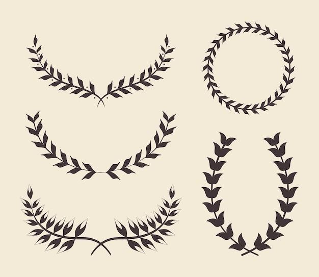Cinco coroas de louros