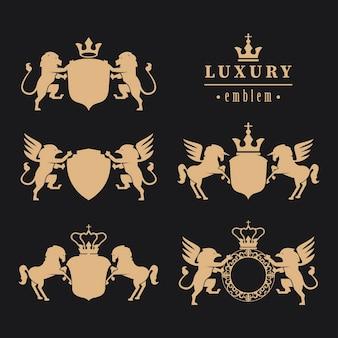 Cinco emblemas de luxo