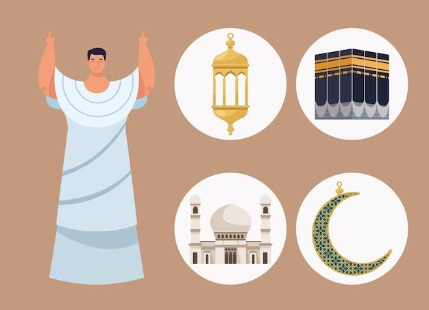 Cinco ícones hajj mabrur