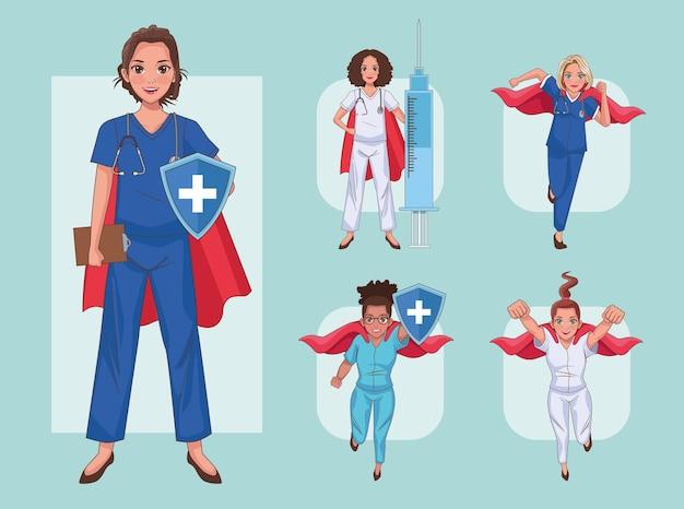 Cinco médicos heróis