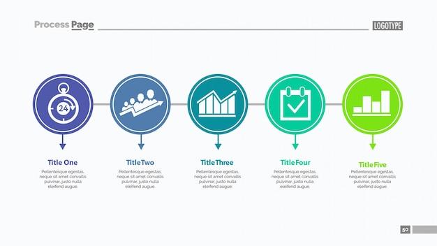 Cinco opções modelo de slide