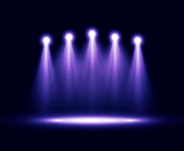 Cinco realistas de vetor realista iluminação
