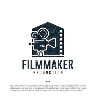 Cineasta, casa, produção, modelo de design de logotipo