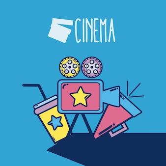 Cinema cartoons elementos cinema bonito dos desenhos animados conceito