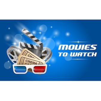 Cinema e banner de filme