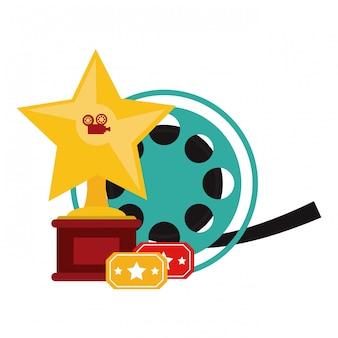 Cinema e filmes conceito