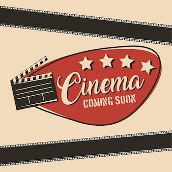Cinema em breve chapa de filme