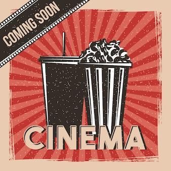 Cinema em breve filme premier poster vintage