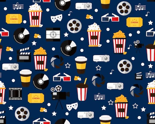 Cinema liso do teste padrão da textura sem emenda do vetor.