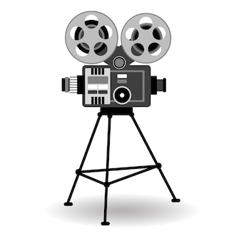 Cinema retro do filme do projetor de filme