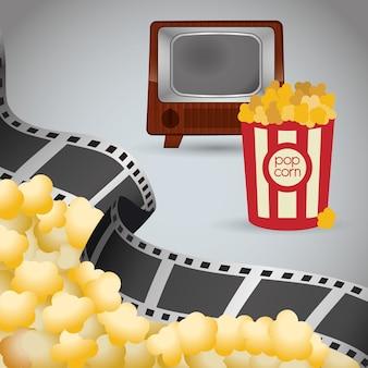 Cinema retro tv balde pipoca