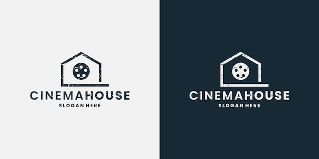 Cinematografia de design de logotipo de casa de cinema
