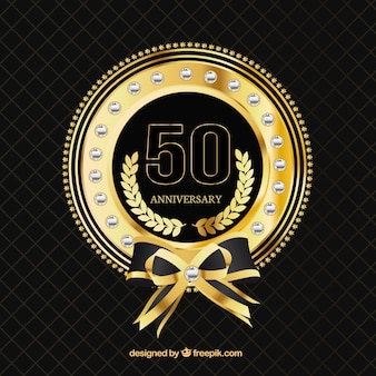 Cinquenta aniversary crachá de ouro