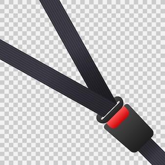 Cinto de segurança. cinto de segurança do movimento no carro