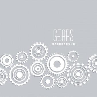 Cinza com design de conexão de engrenagens brancas