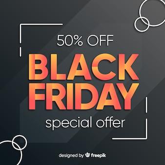 Cinza degradê para oferta especial de sexta-feira negra