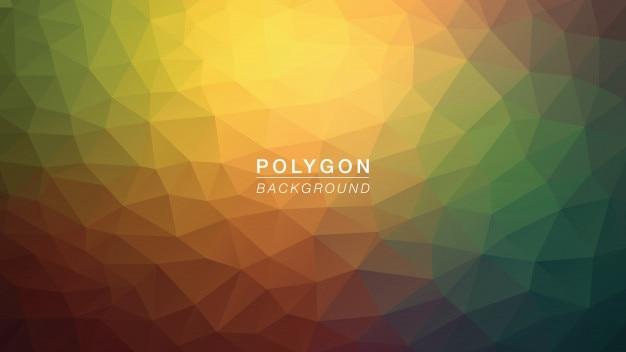 Cinza do arco-íris do polígono