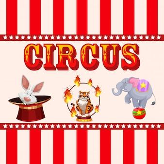 Circo, feira de diversões, tema do parque de diversões