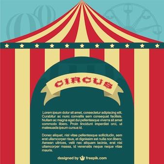 Circo modelo tenda cartaz