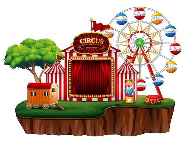 Circo vazio do parque de diversões da feira de divertimento