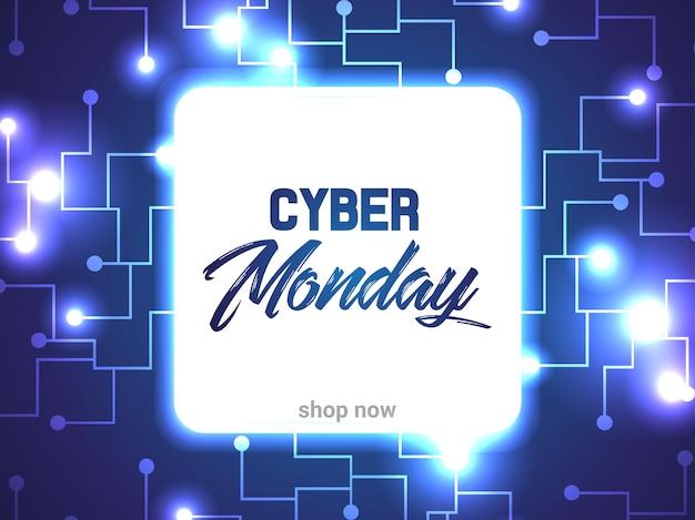 Circuito abstrato de cyber segunda-feira