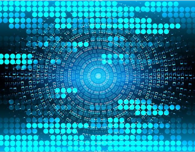 Circuito azul cyber futuro fundo de conceito de tecnologia