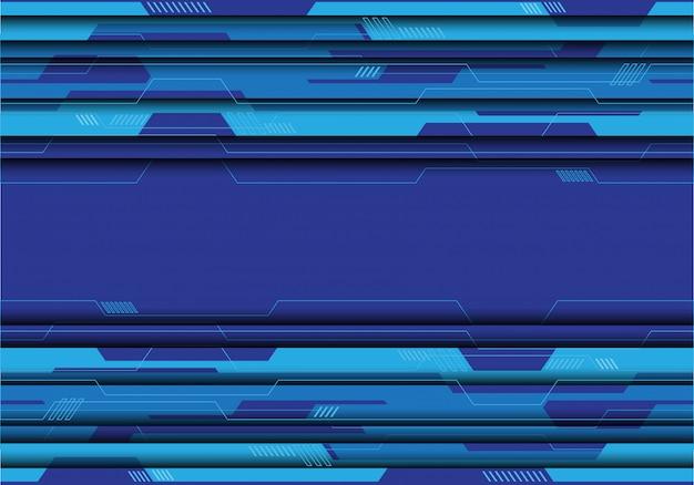 Circuito azul do tom no fundo futurista cinzento.
