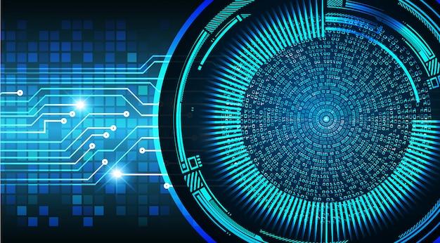 Circuito cibernético de olhos azuis