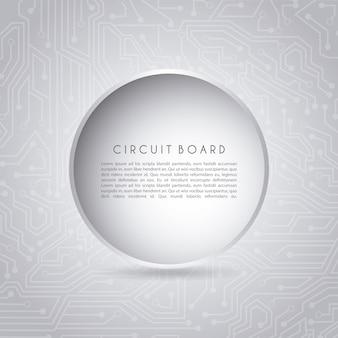 Circuito circular sobre fundo cinza