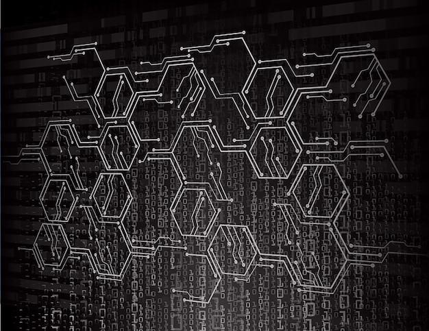 Circuito cyber preto futuro fundo de conceito de tecnologia