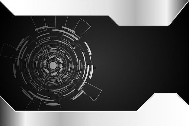 Circuito de círculo abstrato tecnologia conceito
