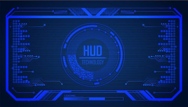 Circuito de hud azul cyber tecnologia futura conceito fundo