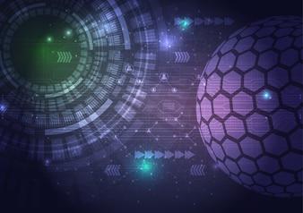 Circuito de tecnologia digital abstrato