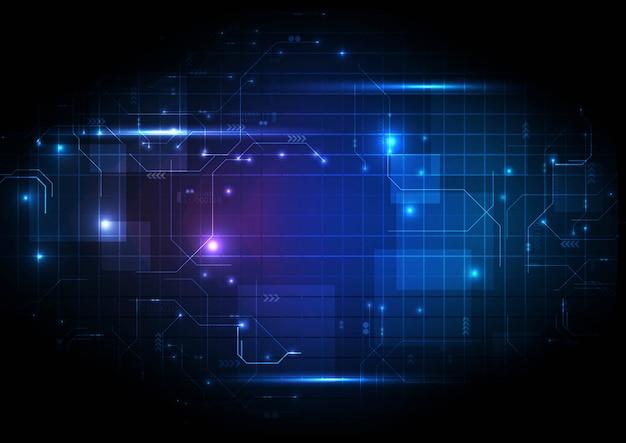 Circuito digital de luz roxa tecnologia digital