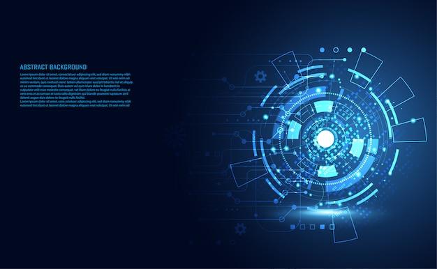 Circuito digital de tecnologia abstrata moderna