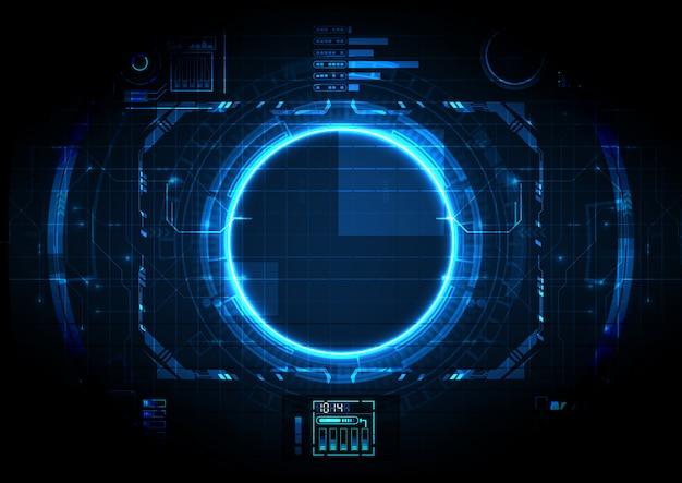 Circuito futurista de luz digital de alta tecnologia