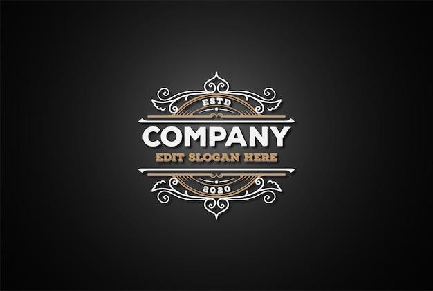 Circular vintage retro emblema emblema etiqueta logo design vector