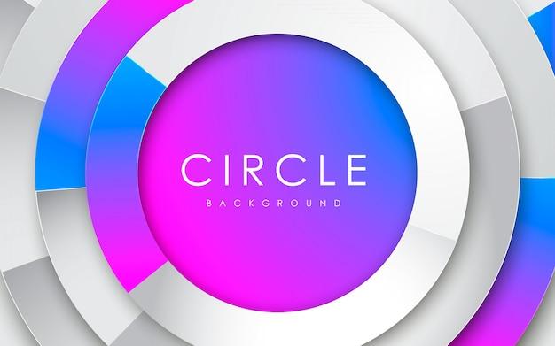 Círculo 3d abstrato branco com gradiente
