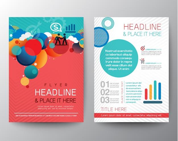 Círculo abstrato brochure design template vector flyer layout em tamanho a4