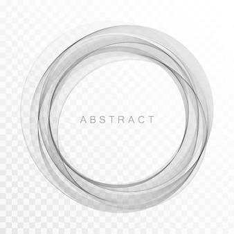 Círculo abstrato cinza de linhas. quadro ou fundo abstrato do vetor.