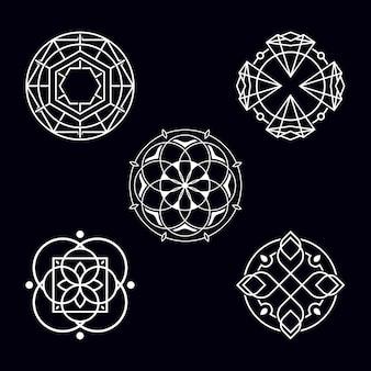 Círculo abstrato geométrico